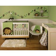 Monkey nursery ... so cute! Perfect with a Monkey Scentsy Buddy, too! (Let me know if you want one.)