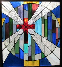 Cross in stained glass...