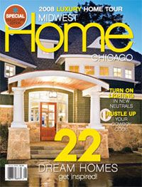 Stonebreaker Builders Luxury Home Tour Model on cover of Midwest Home Magazine