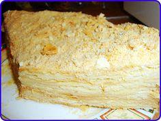 Торт Наполеон со слоеного теста - Рецепты с фото