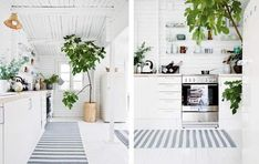 Summer has returned to Denmark, and we are enjoying the sunshine to the fullest Here's some nice pictures from a Danish summer cottage owne. Beach House Kitchens, Home Kitchens, Scandinavian Garden, Boho Deco, Living Spaces, Living Room, Nordic Design, My Dream Home, Decoration