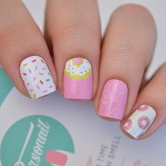 Nail art is a very popular trend these days and every woman you meet seems to have beautiful nails. It used to be that women would just go get a manicure or pedicure to get their nails trimmed and shaped with just a few coats of plain nail polish. Diy Nails, Cute Nails, Pretty Nails, Girls Nail Designs, Diy Nail Designs, Nails For Kids, Girls Nails, Nail Polish For Kids, Little Girl Nails