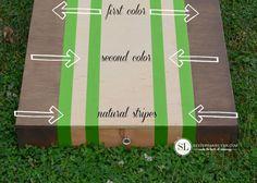 Painting Cornhole Board Stripes