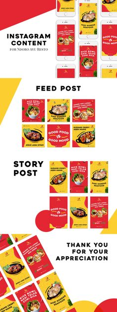 Instagram Content for Ndoro Ayu Resto on Behance