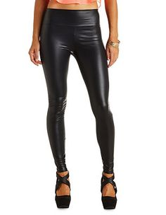 High-Waisted Liquid Leggings: Charlotte Russe - http://AmericasMall.com/categories/juniors-teens.html