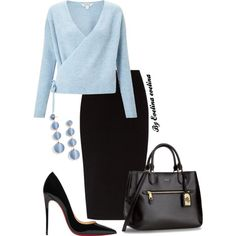 A fashion look from February 2018 featuring Miss Selfridge sweaters, The Row skirts and Christian Louboutin pumps. Browse and shop related looks.