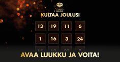 Avaa luukku ja voita joka päivä palkintoja! http://delmontegold-joulukalenteri.innovadigital.fi/