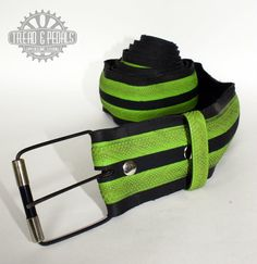 Upcycled Bike Tyre Belt with Handmade Buckle by treadandpedals, $54.00