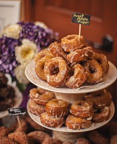 Donuts in Rich Fall Flavors by Cuppa Photography | blog.theknot.com