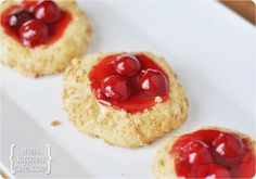 Cherry Cheesecake Cookies - If you don't have the time to fuss with a cheesecake, these cookies are the answer!