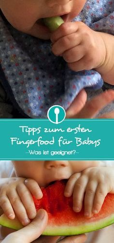 Tipps zum ersten Fingerfood für Babys Tips for the first finger food for babies: What is suitable as finger food from when. First Finger Foods, Baby First Foods, Finger Finger, Dinner Recipes For Kids, Baby Food Recipes, Kids Meals, Food Tips, Baby Snacks, Weaning Foods