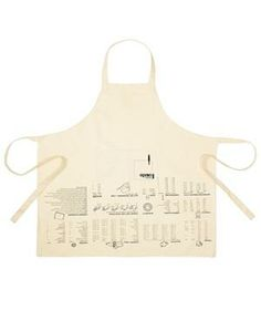 Cooking Guide Apron: This handy apron provides helpful cooking tips like freezing instructions and numeric conversions.