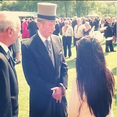 Posted on June 6, 2013 by HatQueen...Queen Elizabeth and Prince Philip, the Duke of Edinburgh hosted their third and final Buckingham Palace garden party of 2013. The Earl and Countess of Wessex and the Duke of Kent  accompanied them today.