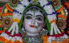 To view Sri Radha wallpapers of ISKCON Allahabad in difference sizes visit - http://harekrishnawallpapers.com/sri-radha-close-up-iskcon-allahabad-wallpaper-004/