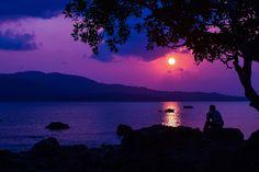 #sky #evening #sunset #sea #person #landscape
