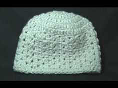 Cluster V Stitch Hat Crochet Tutorial