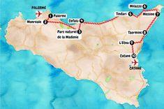 Voici notre itinéraire pour un magnifique road trip sur la côte nord de la Sicile ! #Sicile #Italie #Palerme #Catane #Messine #Etna #Taormina