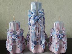 Hochzeitskerzen Set 3 St.  - geschnitzte Kerzen. von Lenz  Kerzen auf DaWanda.com