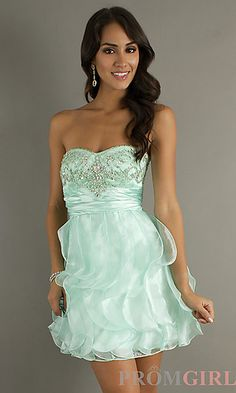 Strapless Short Prom Dress at PromGirl.com