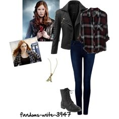 Doctor Who: Amy Pond by fandoms-unite-3947 on Polyvore featuring polyvore, fashion, style, Rails, Doublju and Forever New