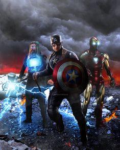 The Big Three - Avengers Endgame Piece! Only thing missing are the Infinity Stones with Tony. Marvel Films, Marvel Memes, Marvel Characters, Marvel Avengers, Spiderman Marvel, Mundo Marvel, Wolverine, Arte Dc Comics, Avengers Wallpaper