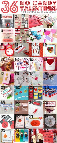 36 NO-CANDY #Valentines for Kids