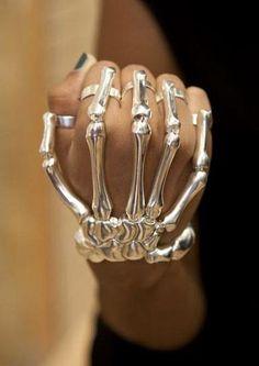 bone-bracelet Skeleton Hand Bracelet by Delfina Delettrez