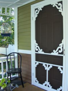 Cheapest Screen Door From Lowes Embelished With Hand Designed Scroll Saw  Gingerbread.