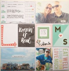 DITL May (Right Hand Side), by Suz Mannecke using the Sage + Mint Collection from www.cocoadaisy.com  #cocoadaisy #scrapbooking #kitclub #DITL #pocketpages #projectlife