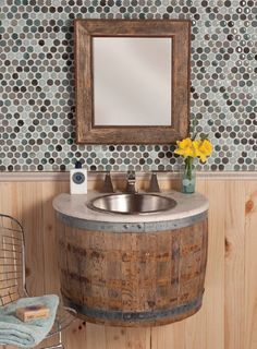 sink..perfect for a log home or cabin in the mountains