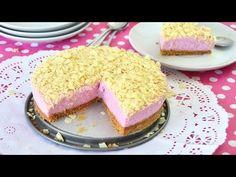 Deliciosa y sencilla!! Tarta de Petit Suisse de Fresa sin Horno - YouTube