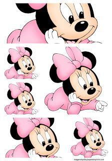 Etiquetas minnie mouse para imprimir