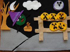 5 little pumpkins felt board