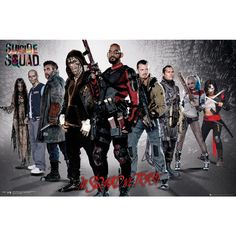 "Poster orizzontale ""In Squad We Trust"" di #SuicideSquad. Dimensioni: 61 x 91,5 cm."