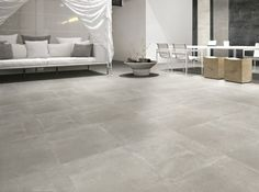 Effet béton, ce carrelage sera parfait dans un intérieur industriel. Carrelage Trendy Grey Naturel. 60 x 60 cm. 76 €/m². Surface