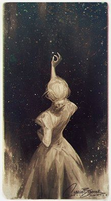 """""""Love knows not distance; it hath no continent; its eyes are for the stars."""" - Gilbert Parker  (Art: Charlie Bowater)"""