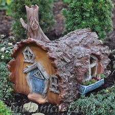 NEW RUSTIC FAIRY HOUSE/ FAIRY LOG CABIN / MINATURE GARDEN HOUSE/ BIRTHDAY GIFTS
