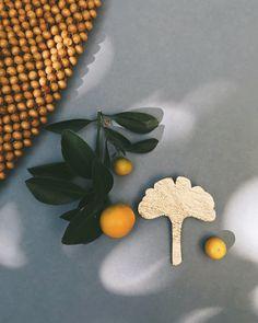 Broche feuille de Ginkgo fait main en France Adele, Cactus, Brooches Handmade, Cinnamon Sticks, Leaves, Create, Etsy, France, Handmade