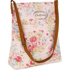 Cath Kidston Spring Bouquet Messenger Bag, cotton with leather strap, $75