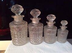 Antique Set of French Perfume Cologne Bottles 1900 1920's GL125 | eBay