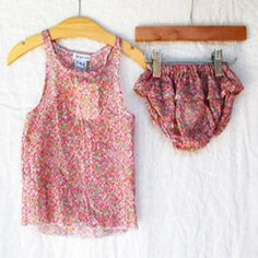 Liberty Floral Tank & Bloomer Set - milk and honey baby