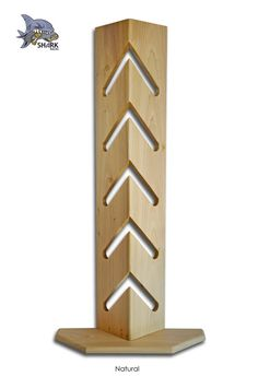 Gut SHARK RACKS 5 BOARD Skateboard Display Rack Natural By WOODWAZE