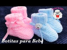 Easy knit baby booties, socks – How to knit for beginners M boy or girl Crochet for Baby 203 - Knitting Knitting For Kids, Easy Knitting, Knitting For Beginners, Layette Pattern, Baby Booties Knitting Pattern, Knitted Baby Boots, Knit Baby Booties, Booties Crochet, Crochet Vs Knit