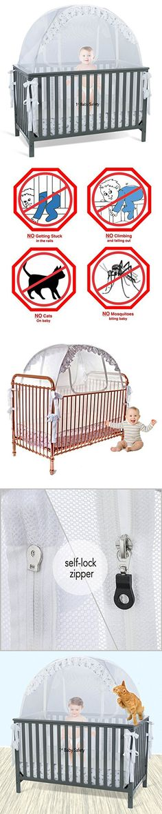 Baby Crib Tent Safety Net Pop Up Canopy Cover - Never Recalled & Embroidered White Eyelet Baby Crib Canopy Cover | Baby Crib ...