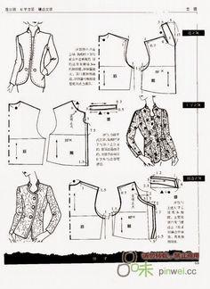 Arquivo dos álbuns Coat Patterns, Clothing Patterns, Sewing Patterns, Techniques Couture, Sewing Techniques, Collar Pattern, Jacket Pattern, Sewing Hacks, Sewing Tutorials