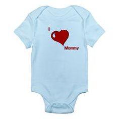 I Love Mommy Infant Bodysuit > Designs For The Little Ones