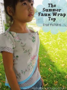 Fresh Off the Bolt: Summer Faux Wrap Top Free Pattern & Tutorial is Here!