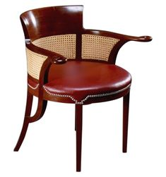 Pall Mall Desk Chair  Transitional, MidCentury  Modern, Leather, Wood, Desk Chair by Lutyens Furniture  Lighting