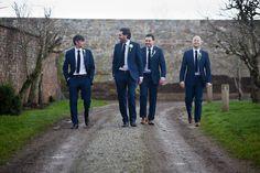 Groom And Groomsmen Outfits Groomsmen Outfits, Groom And Groomsmen Attire, Groom Outfit, Bridesmaids And Groomsmen, Blue Suit Wedding, Wedding Men, Wedding Suits, Wedding Attire, Wedding Ideas