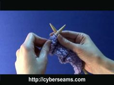 purl stitch for lefties like me! (the vid is a bit too fast, but I taught myself this tonight)